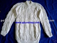 "Alpaca Sweater Handmade ""S"" Peru Cew Neck for Men"