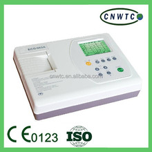 Large LCD auto report three channel ecg machine
