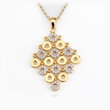Multi round design ladies charm necklace pendants 14k gold jewelry wholesale italy silver bridal jewelry pendant