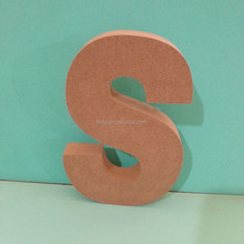 special 3d laster carving wood letter S decoration