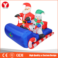 New inflatable santa with camper, sleigh and snow man