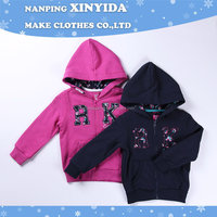 Quality new products blank zipper thin children's hoodies