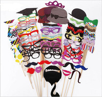 76pcs/set Adult Baby Wedding funny paper mustache birthday party photographed props