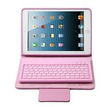 Foldable Silicone Keyboard Leather Case Stand Cover for iPad mini