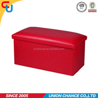 Red color jumbo leather sex ottoman furniture for living room furniture
