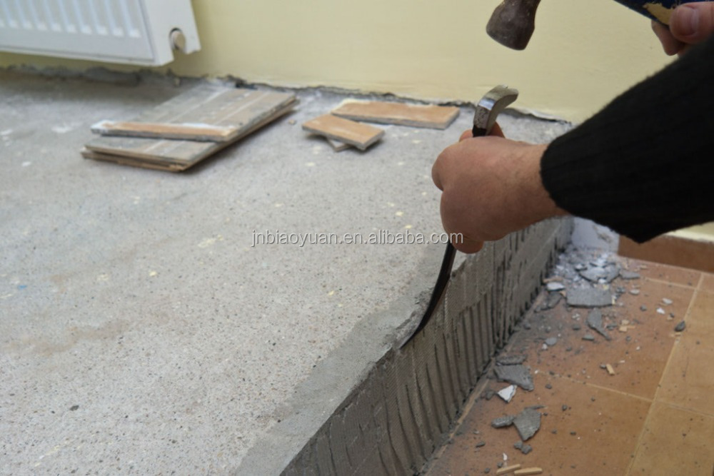 How to remove floor tile cement