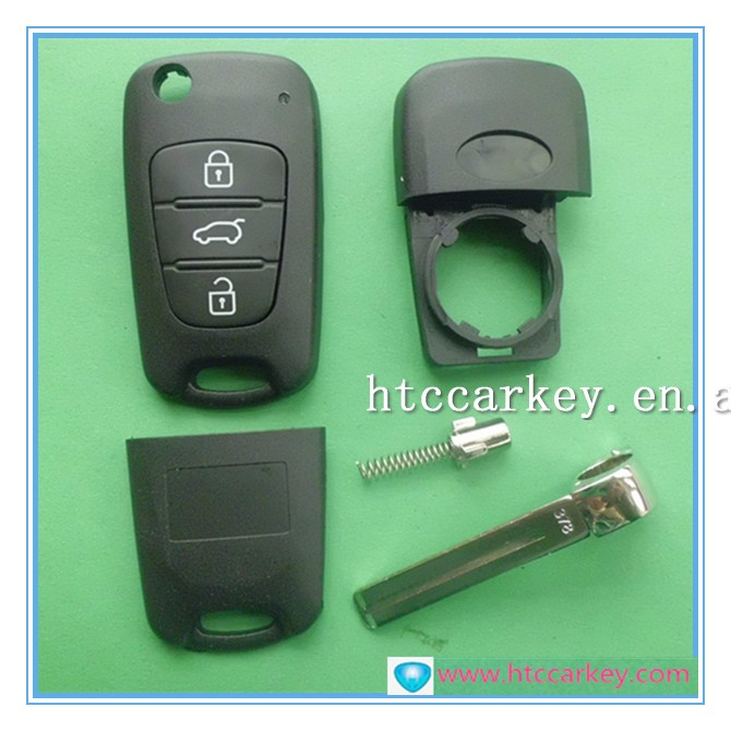 High quality car key for 3 Button Modified Flip key kia remote key case