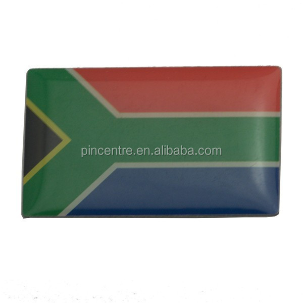metal epoxy square south african flag lapel pins