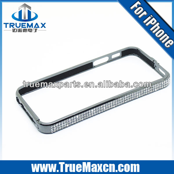 Wholesale cheap for iPhone 5s bumper case, for iPhone 5s bumper with diamond Luxury