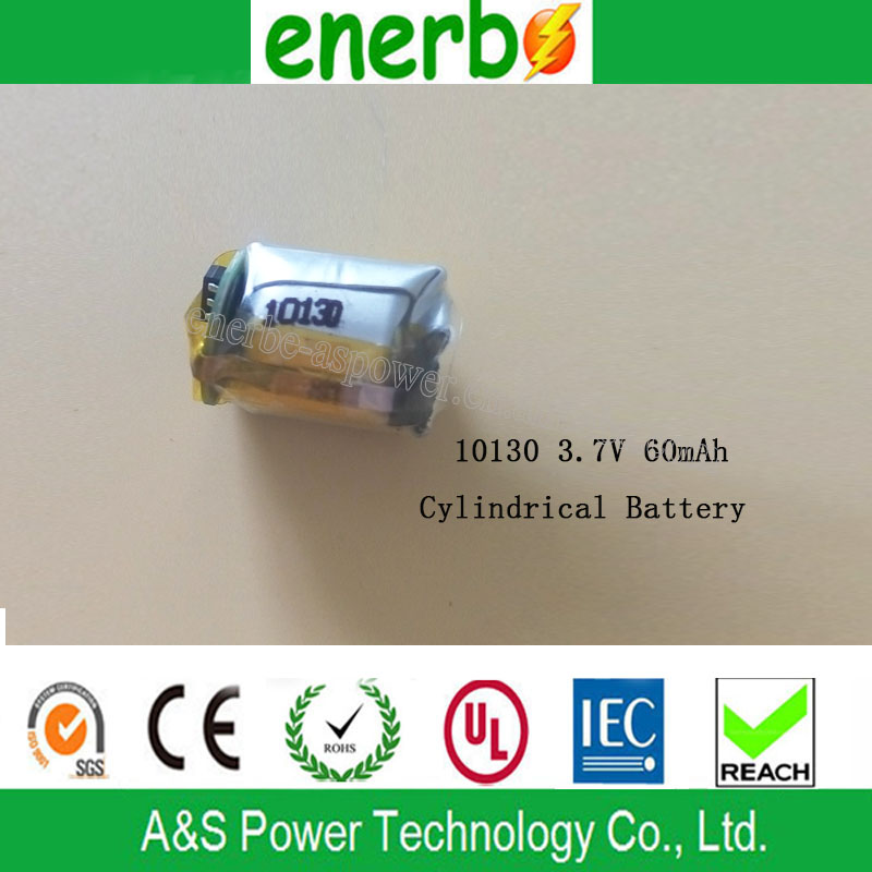 60mAh Cylindrical Batteries 10130 Bluetooth Headset Lipo Battery 3.7V 50mAh 10.0 D*30.0 Hmm