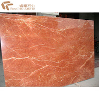 A Large White Veins Slab Red Rojo Alicante Marble For Floor Tile