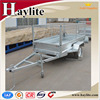 Galvanized box trailer with mesh cage