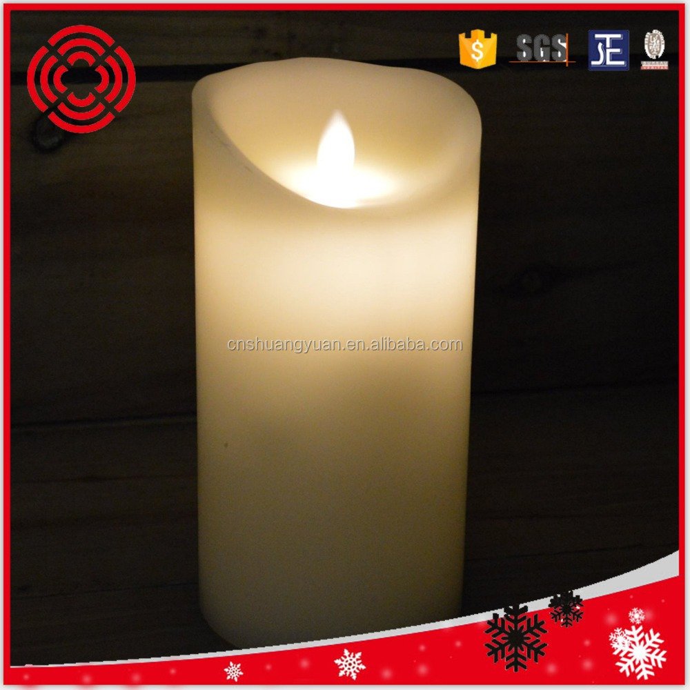 Real Wax Dancing Flame Candle Battery Operated With Timer Christmas decoration