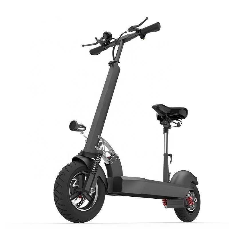 2019 Trending Adult Folding <strong>Electric</strong> Powered Scooter Anti Theft Off Road E Scooter with Seat