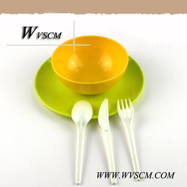disposable compostable dessert plastic utensil CPLA corn starch knife
