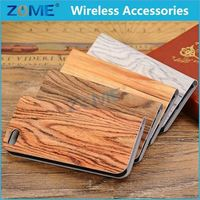 Wood Grain Pu Leather Case Faddish For Iphone 5C Unisex Christmas Mobile Phone Case
