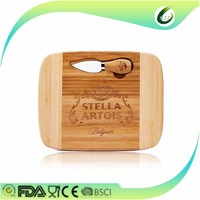 eco-friendly carved bamboo serving board
