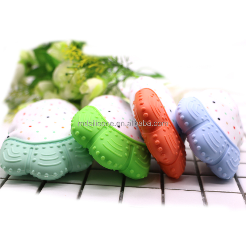 Wholesale Christmas Teether Gloves Mittens Mitt Teething Mitten For Baby