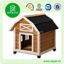 DXDH016 Large Waterproof Lean-to roof Wooden Dog Kennel With Fence