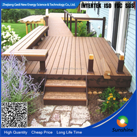 Recycled Fashional Color Stability And Green Deco Material wpc wood plastic Floor Decking