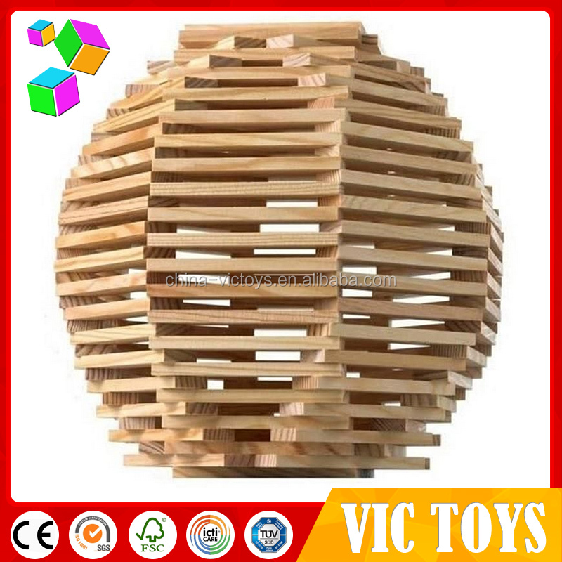100 pieces creative wooden blocks/ construction blocks/ 100 pieces building blocks played by teamwork