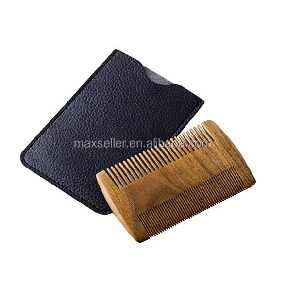 Mustache Beard Kit for Men - Boar Bristle Bamboo Brush to Condition Beard, 2 Sided Pear Wood Beard Comb, Essential Grooming Bear