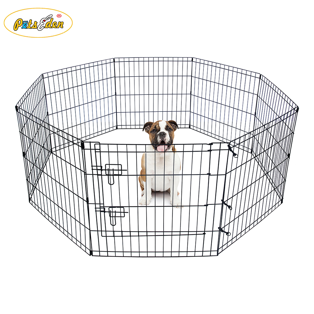 8 Panels Metal Pet Dog Animal Cat Exercise Playpen Fence Enclosure Cage
