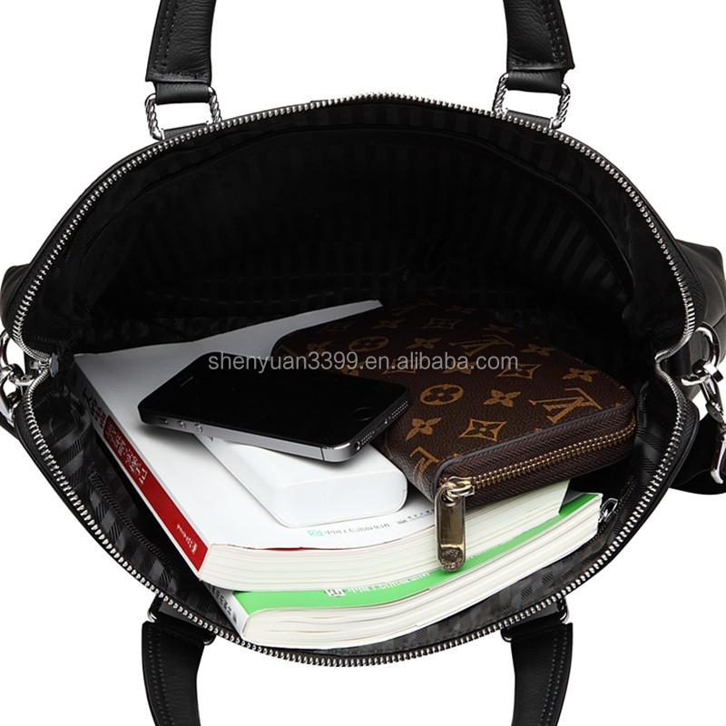 2016 Fashion genuine leather handbag for men,wholesale office bag,black men leather briefcase