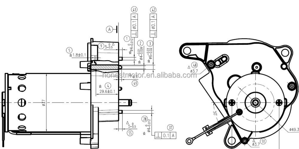 185w 230v 50hz dc motor for juicer and blender  view