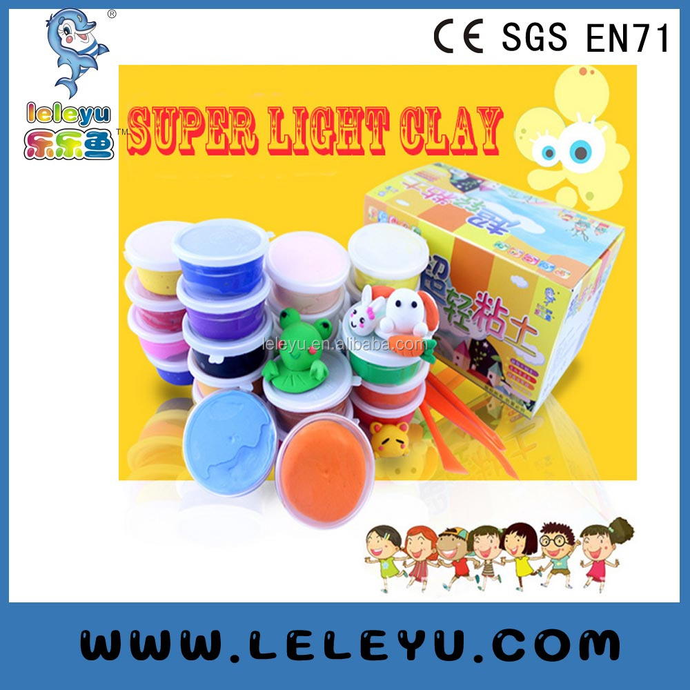 100g toy super modeling foam light clay super light clay ,soft polymer modeling, Kids toy DIY magic clay