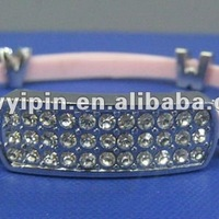 Silicone Bracelet With Crystal Accessories