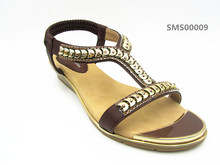 Summer spring women shoes up upper leather sandals wholesale