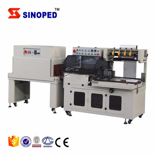 SINOPED 2 in 1 heat shrink tunnel packing machine