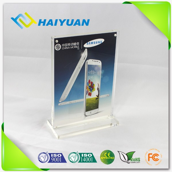 Acrylic card menu stand, acrylic a4 paper display holder