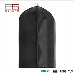 Breathable Nonwoven Fabric Black Garment Bag For Suit Or Garment