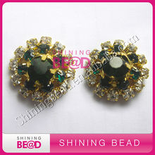 alloy wedding decorations rhinestone brooch for wedding invitation