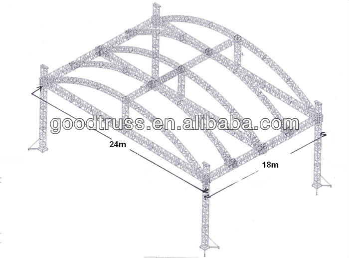 outdoor stage arch roof canopy