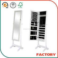 Huaxin high quality standing mirror jewelry armoire