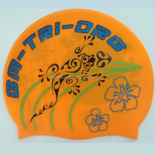 Personality waterproof oem silicone swimming cap