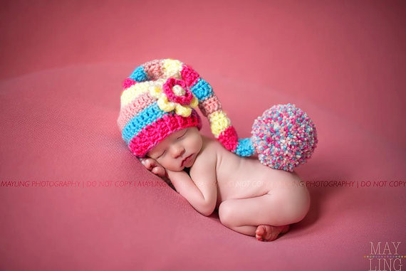 S32792W Newborn crochet baby costume photography knitting baby hat girls cute outfits cap