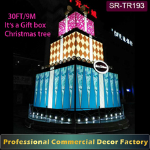 2017 New Customize outdoor 15ft 20ft 30ft 40ft 50ft giant christmas tree