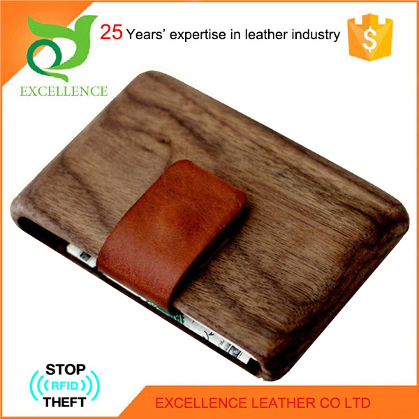 EXCELLENCE Woods Geniune Leather Wallet