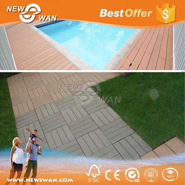 Cheap price outdoor swimming pool anti slip wpc flooring for Swimming pool flooring materials
