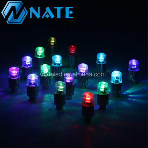 2017 hot selling Motorcycles Bicycle Car Tire Valve Caps Light Lamp Wheel Neon LED Tyre Wheel light