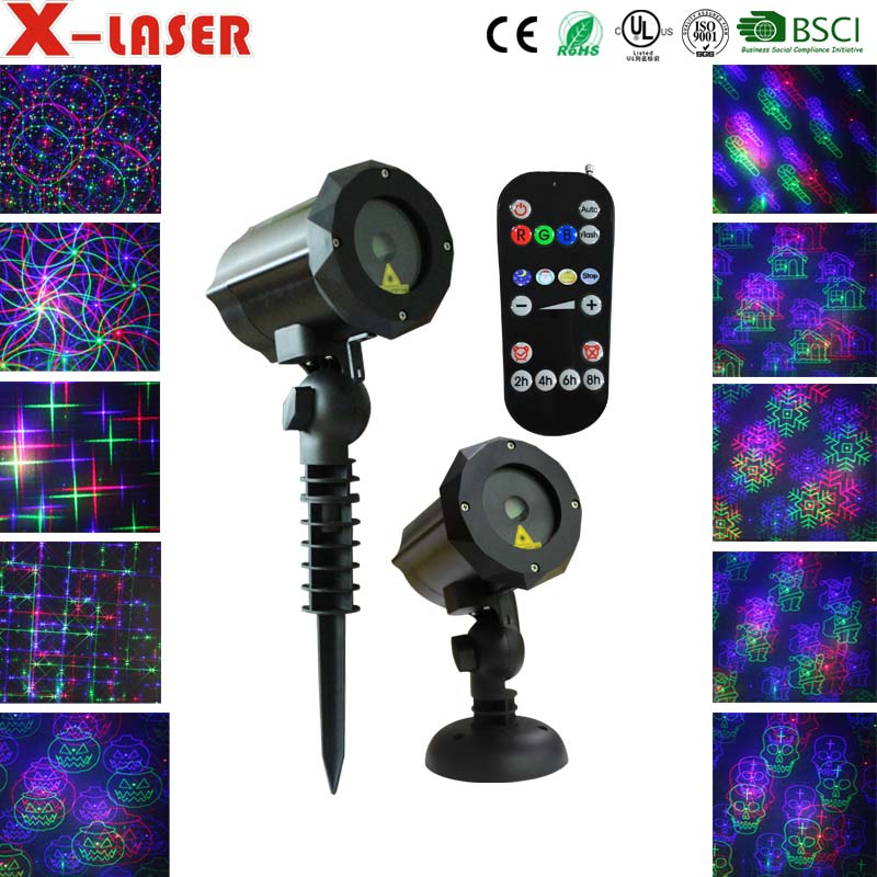 Christmas laser light ,Auto and Manual switching patterns outdoor garden laser projection