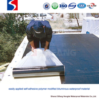 new and improved roofing materials Self-adhering modified bitumen roll roofing for flat roofs