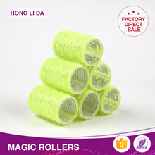 Sell well plastic perm rods no heat hair rollers with elastic