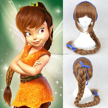 high quality Disney princess brown long braid cosplay wig