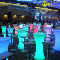 Bright leds16 color changing battery operated power color changing illuminated led bar table and chair lighting furniture