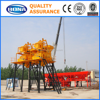 HZS35 Concrete Batch Plant stationary twin shaft electric concrete mixer